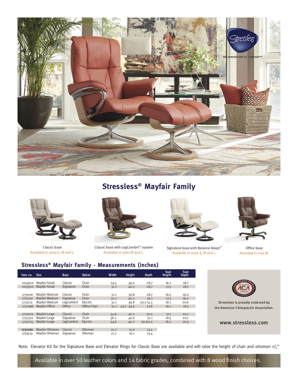 Stressless Mayfair Dimensions