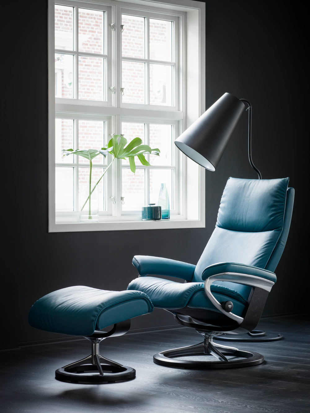 Stressless Aura in Sparrow Blue