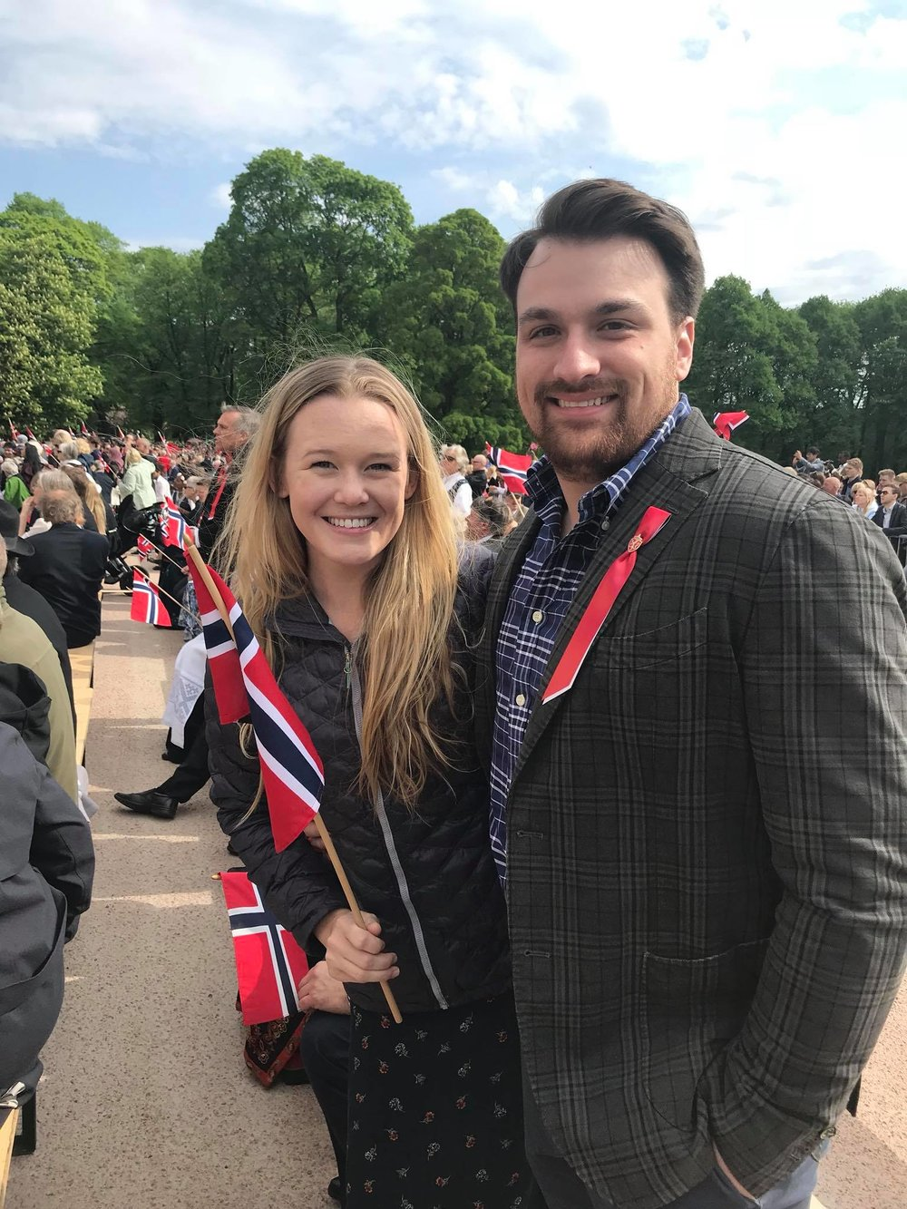 Michael celebrating Syttende Mai (17th of May) with the Norwegians! This is Norway's Constitution Day