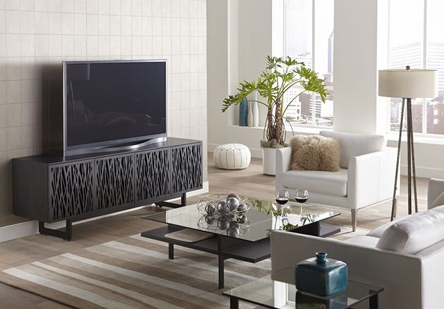 Complete your sleek living room look with a BDI Elements Media Cabinet. Stop by our showroom today! ⠀ ⠀ #BDI #HomeDecor #Sleek
