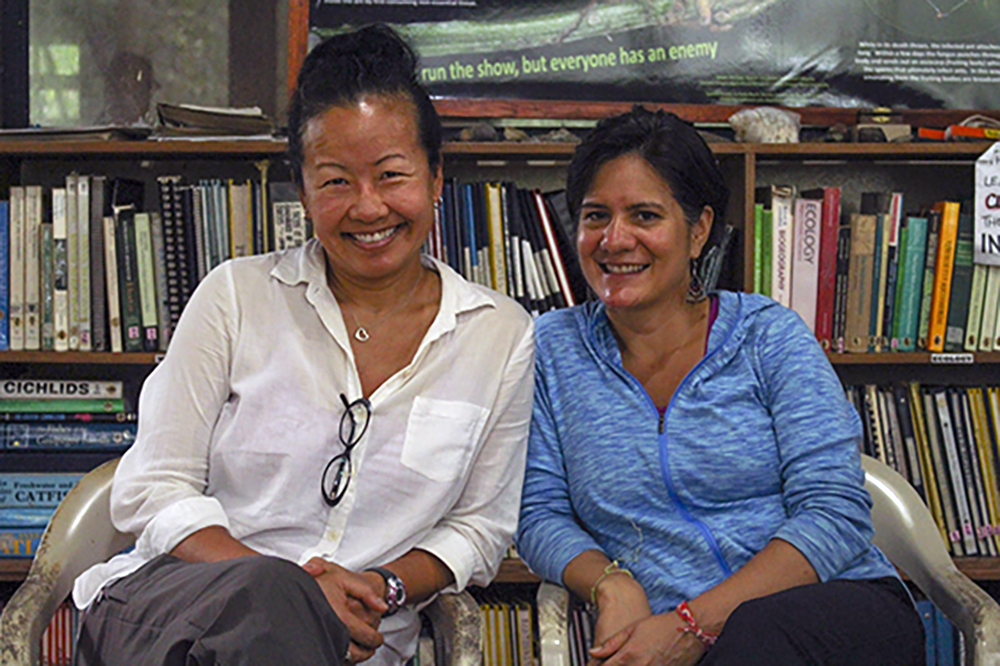 Researchers Flora Lu, left, and Gabriela Valdivia have spent years studying the effects of oil exploration on indigenous culture.     (Jake Pesaruk)