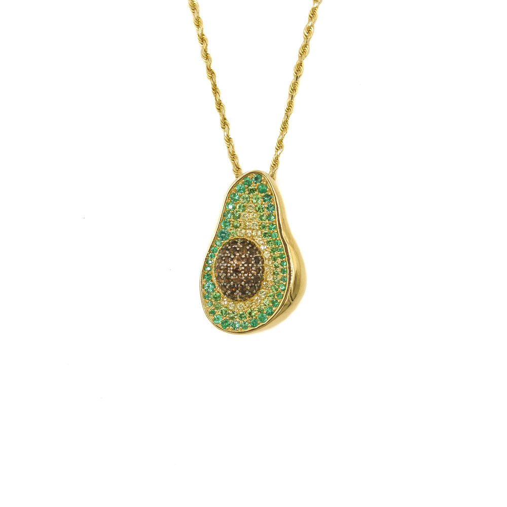 Avocado Diamond Pendant