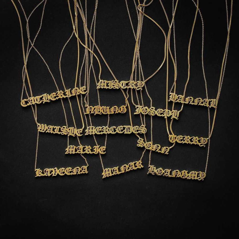 shayan afshar nameplate necklace