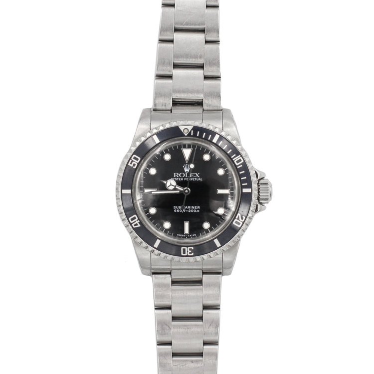 1988 Stainless Steel Black Dial - Rolex Submariner No Date