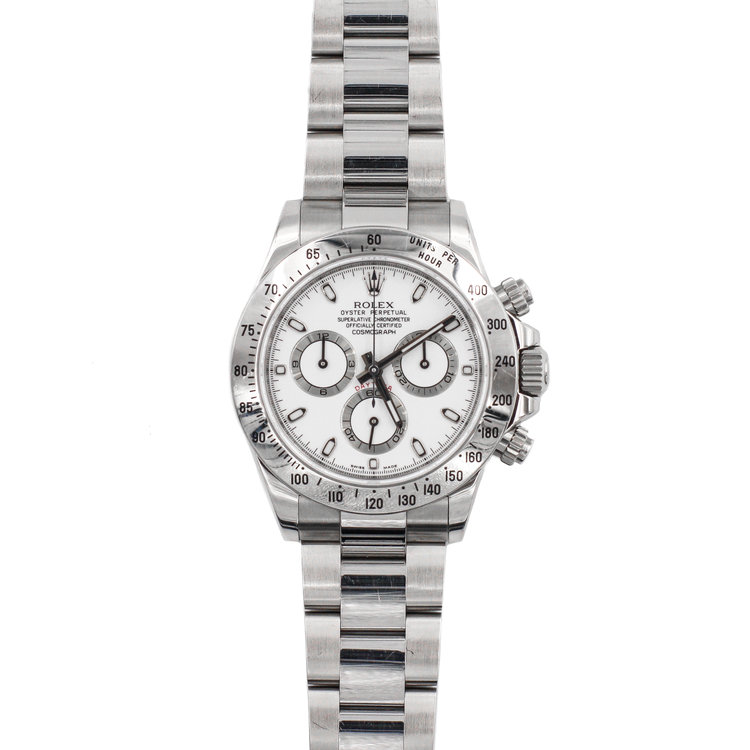 2010 Stainless Steel White Dial - Rolex Daytona