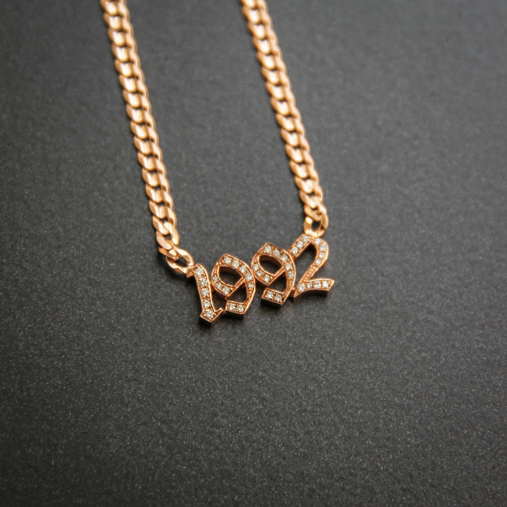 Nameplate Necklace '1992'_Shayan Afshar