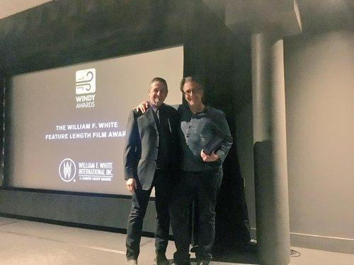 John Barnard accepting Feature Length Film Award