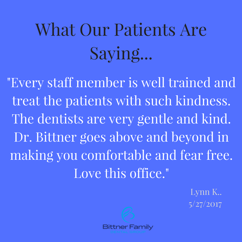 - Bittner Family Dental Group is coming up quickly on it's 50 year anniversary.  In the early years, it was Dr. Gerald Bittner, Sr.. followed quickly by Dr. Susan Alcarez-Bittner and then by Dr. Gerald Bittner, Jr.  It's been more than 15 years since Dr Bittner, Jr.'s parents have retired but he continues the strong tradition that was been instilled by his parents... providing an uncompromising level of patient care.Dr. Bittner, Jr. knows to consistently deliver on this level of care he must keep his staff trained on all of the latest technologies, treatments, dental trends and most importantly patient care.  At the Bittner Family Dental Group it's so important to treat our patients with dignity and respect, as we would our favorite relative.  We pride ourselves on how we care for the most dental phobic of patients.  We strive to have all of our patients