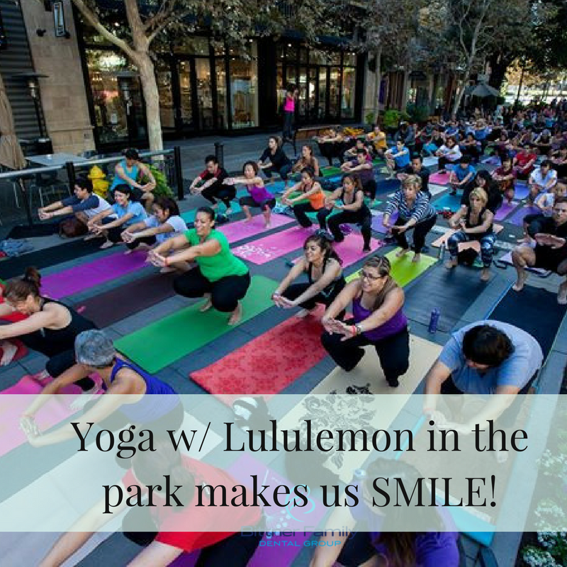Yoga in Santana Row Park