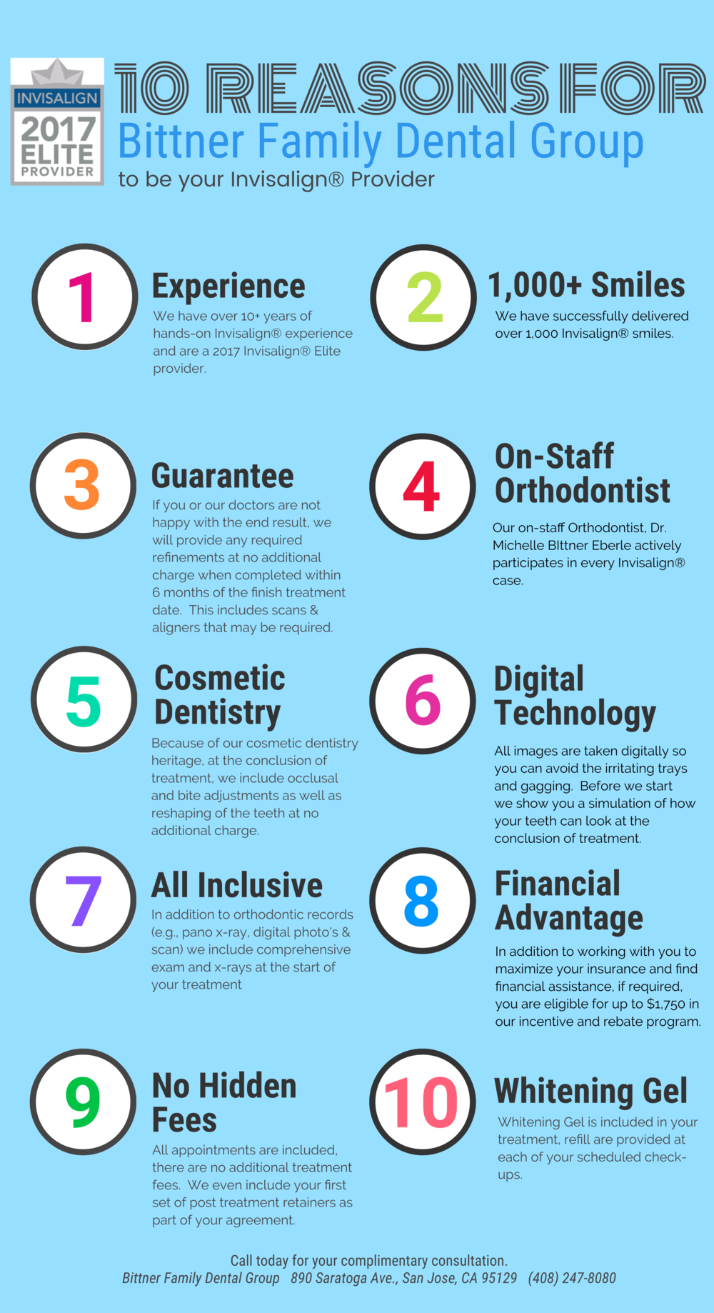 Looking for an Invisalign Provider®? Top 10 Reasons to Choose Us