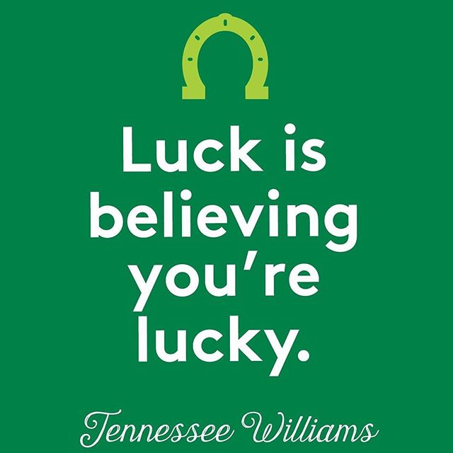 Have a great St. Patrick's Day. And remember, be lucky! 😁