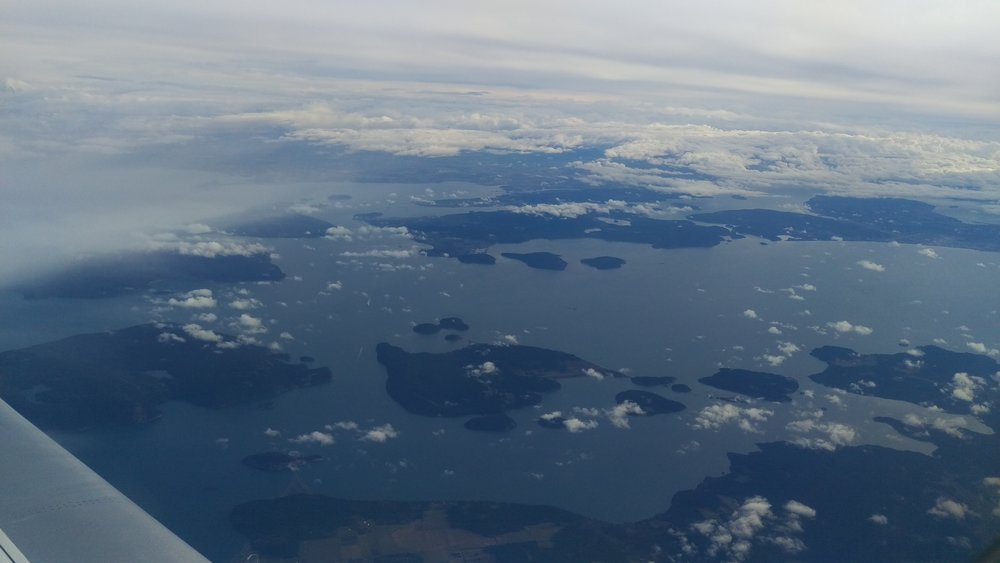 Flying over the Puget Sound