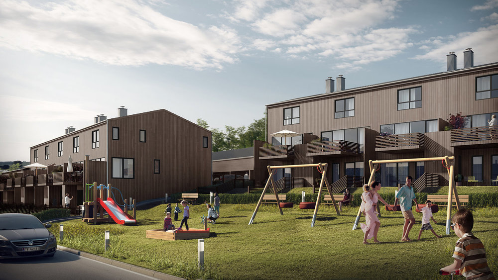 HEKTNERÅSEN, RÆLINGEN   30 rekkehus med høy standard og nærhet til marka.