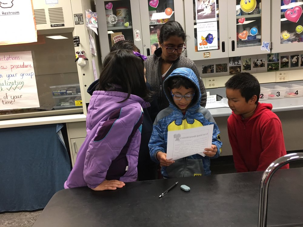 Hirsch elementary students visit horner's AVID class