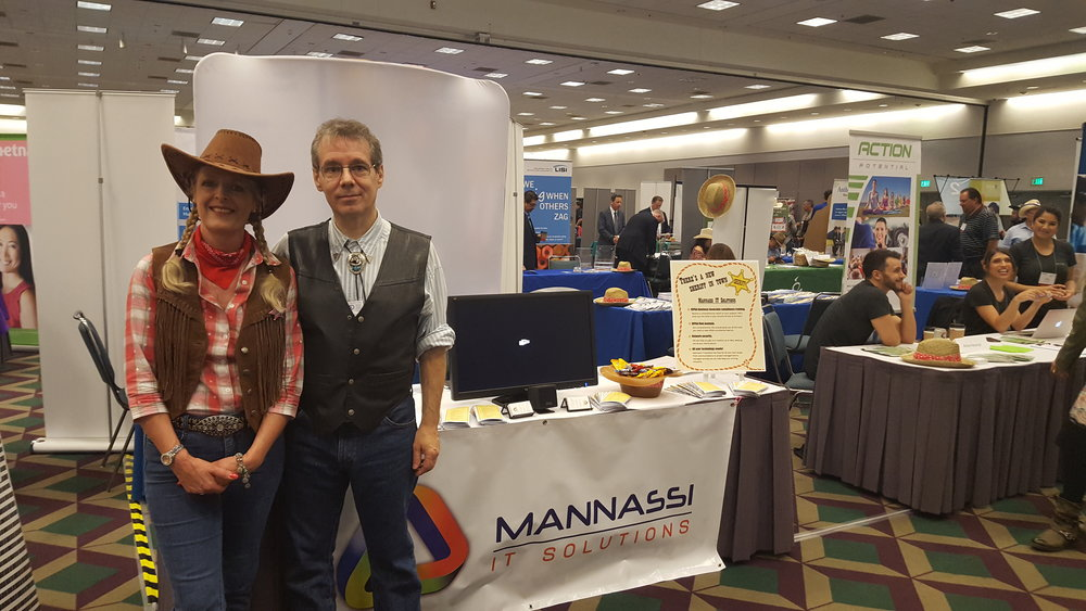 LAAHU's annual conference was western themed this year, hence our wild west attire!