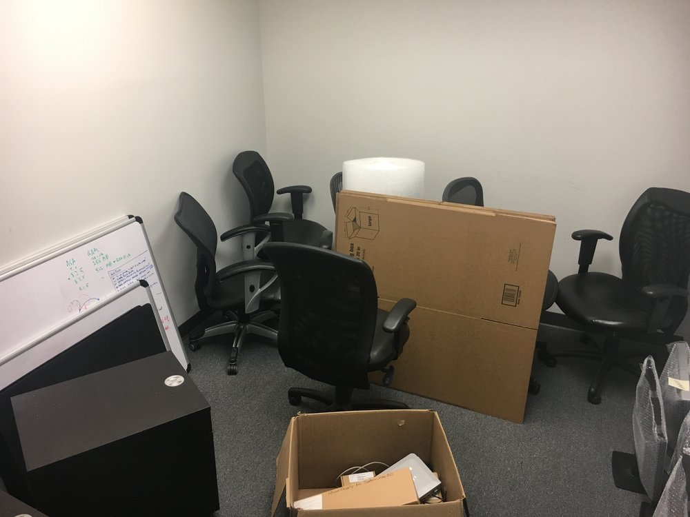 One of our offices is serving as a temporary moving ground zero.