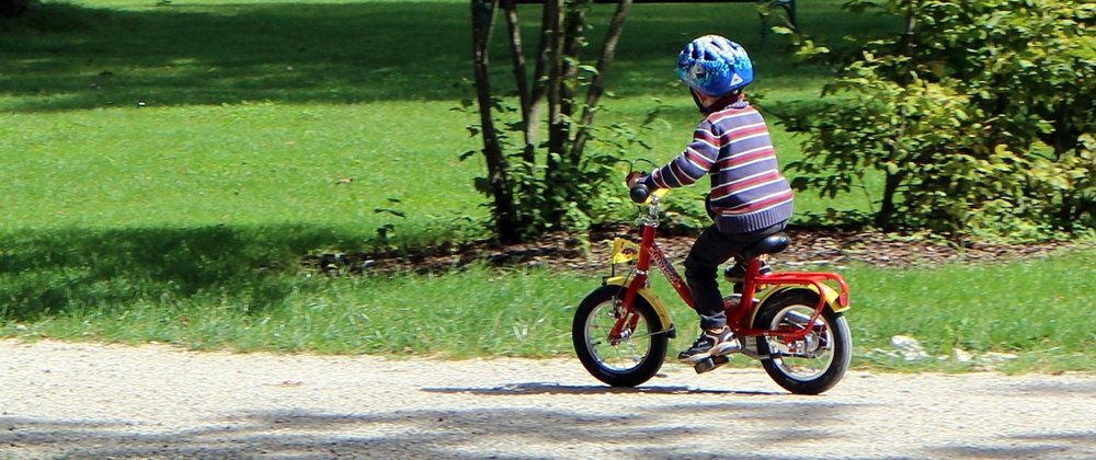 Teaching kids to ride a bike