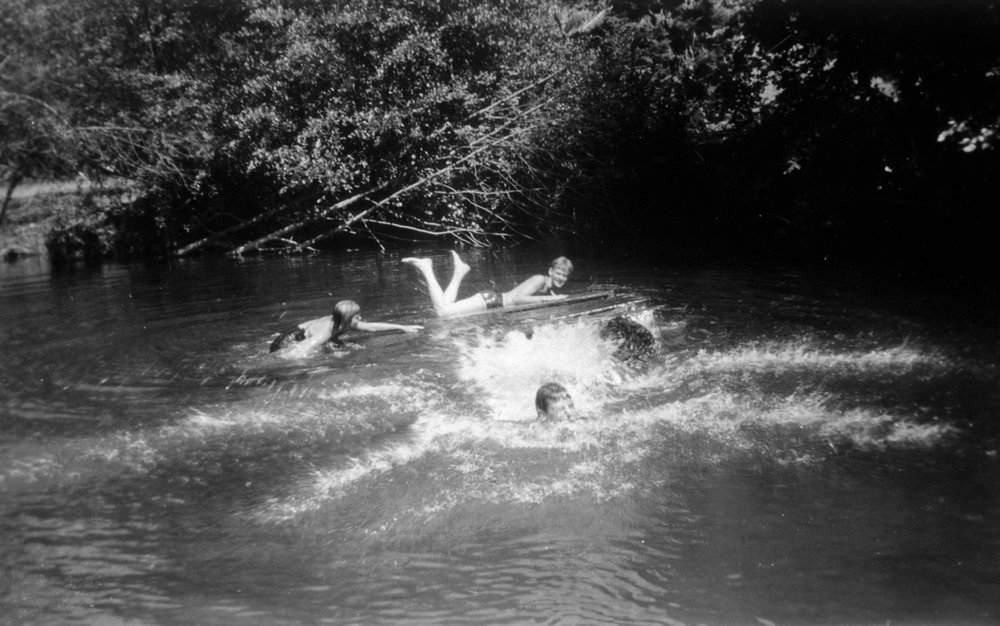 Byer family swimming options may have included the mainstem of the Tualatin River and Dabblers Creek.