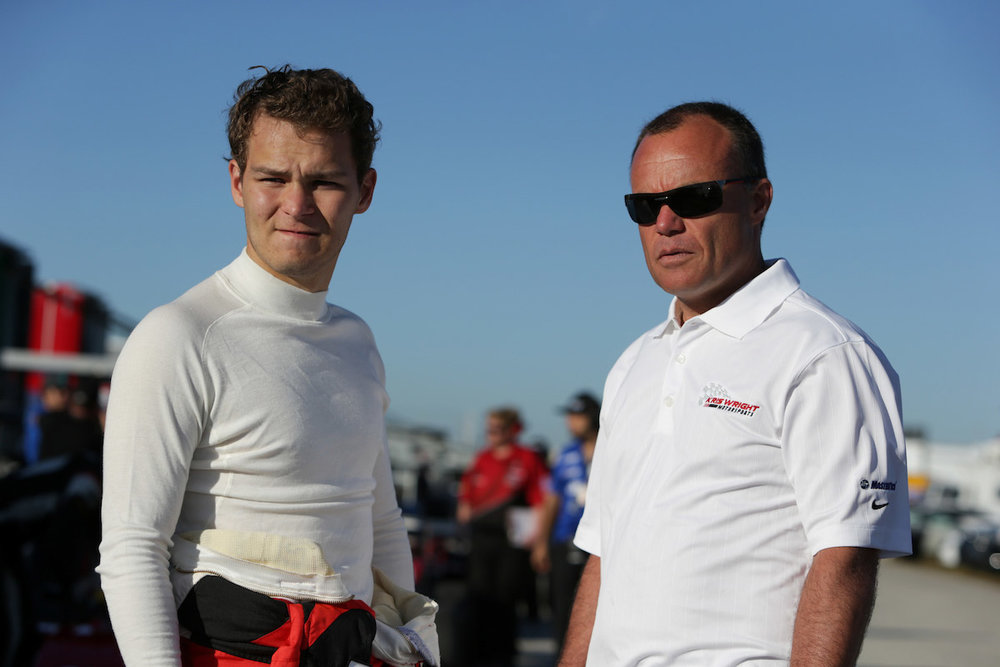 Kris Wright with driver coach, Nic Jonsson