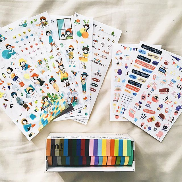 Adding more color to my bullet journal this year! 🌈 #iswearimanadult