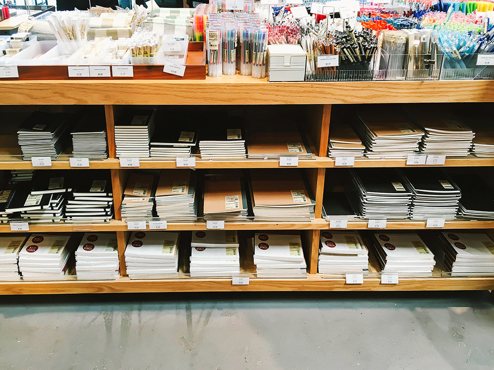 MUJI Stationery Display