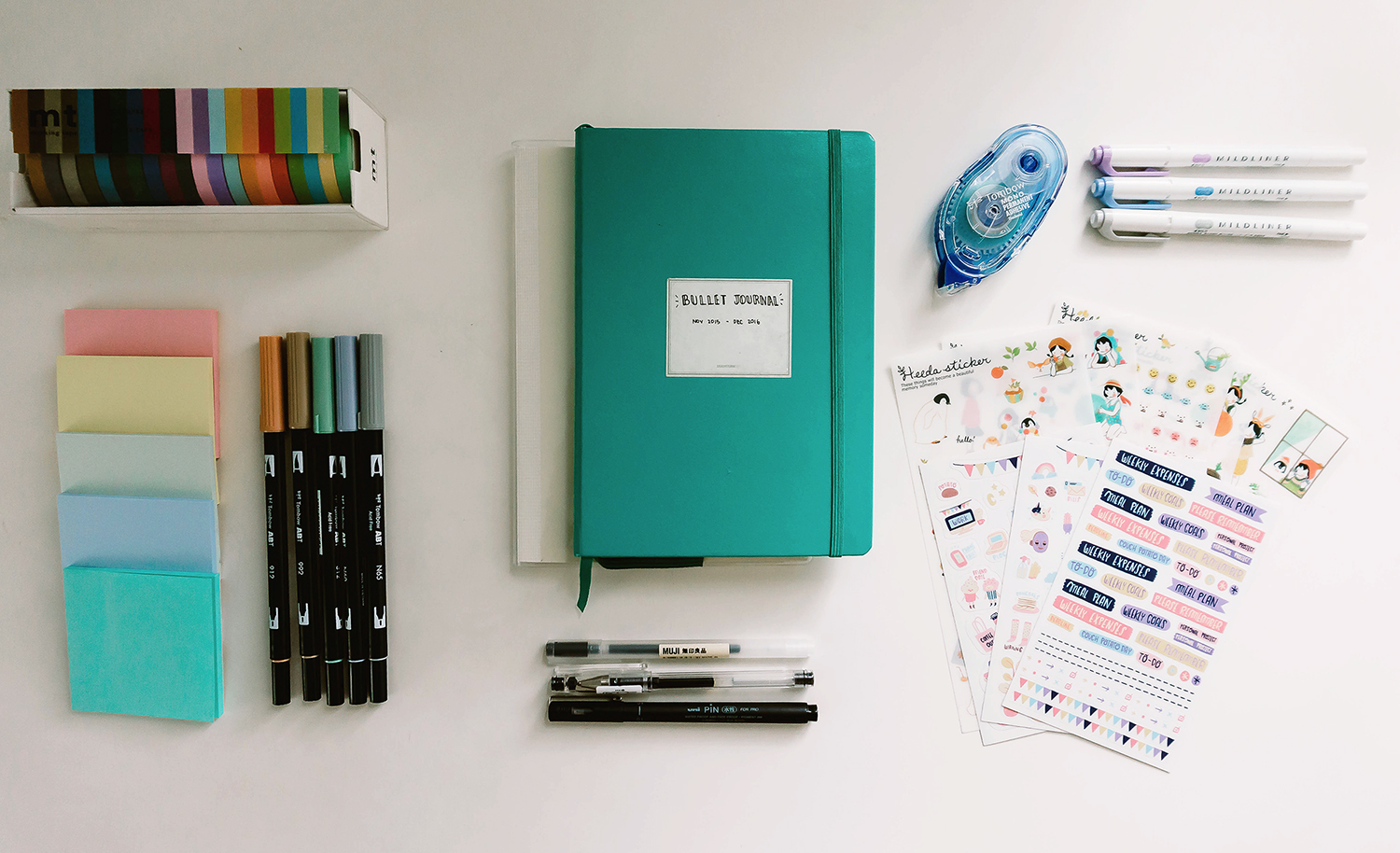 Bullet Journal Supplies For 2017