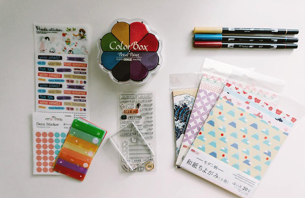 Bullet Journal Supplies Decoration