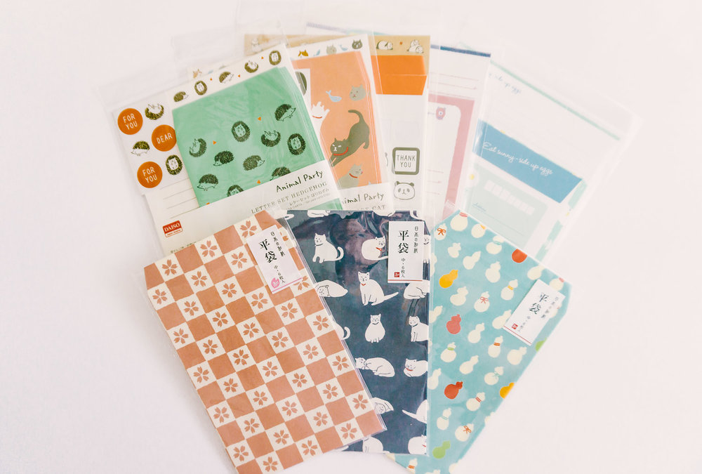 Daiso Envelopes and Letter Sets