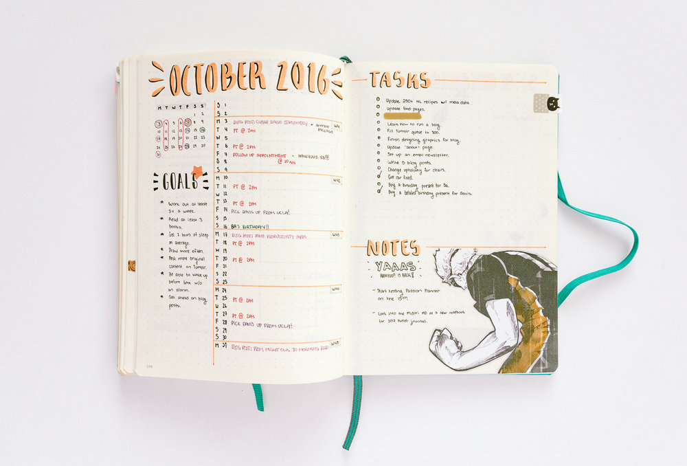 Still a bit extra, but at least the list of dates and list of monthly tasks are clear.