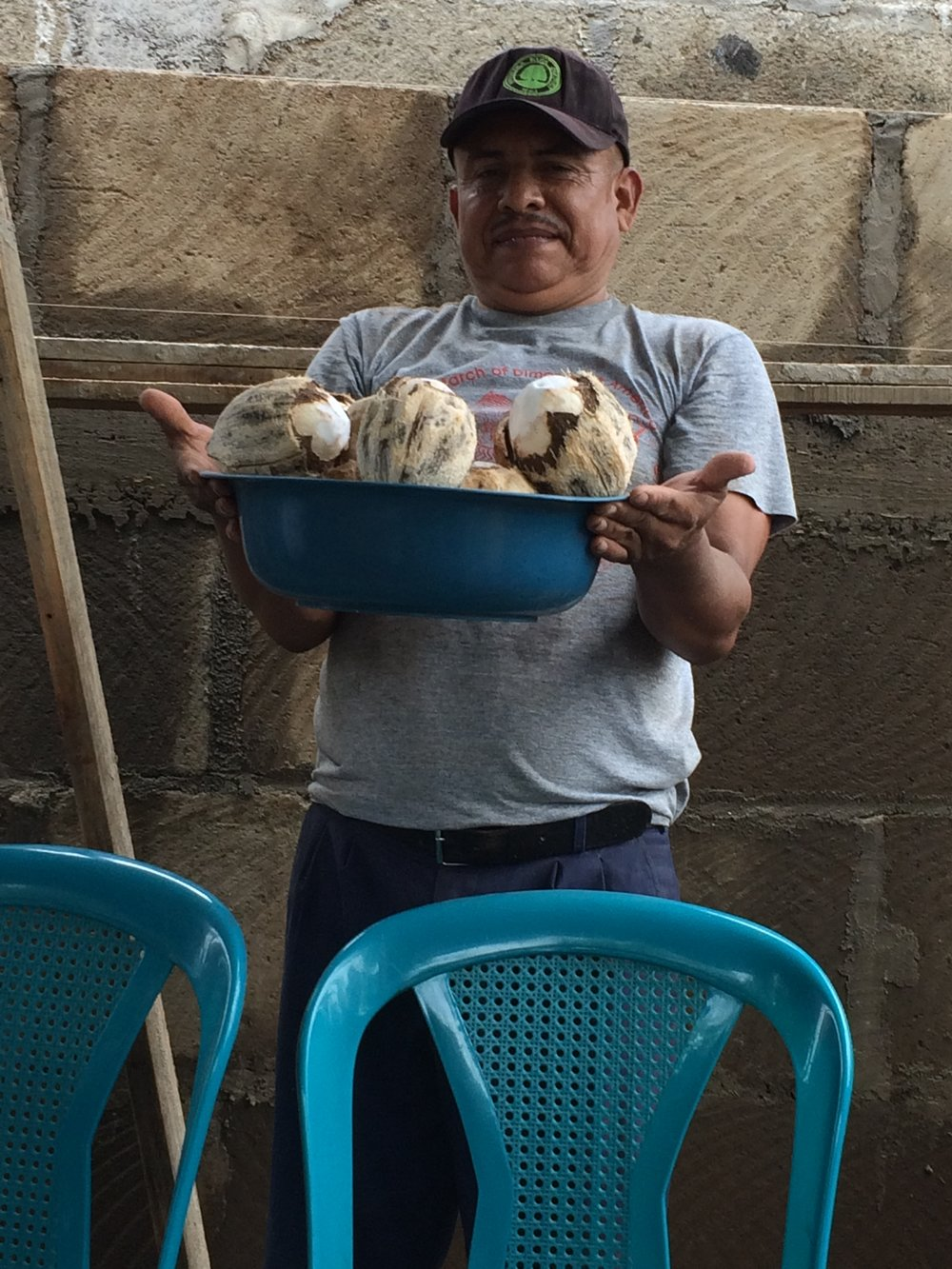Pastor Pablo surprises us with fresh coconut water to refresh us!