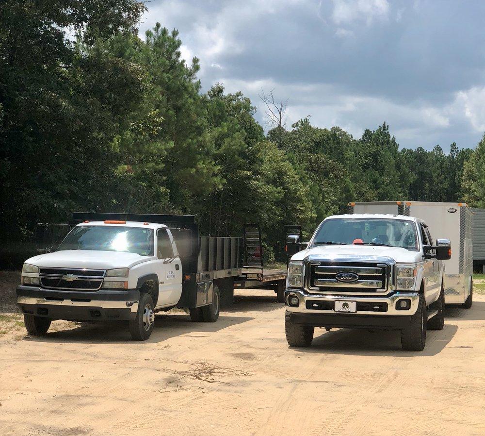 Some of W&K Enterprise LLC's delivery trucks.