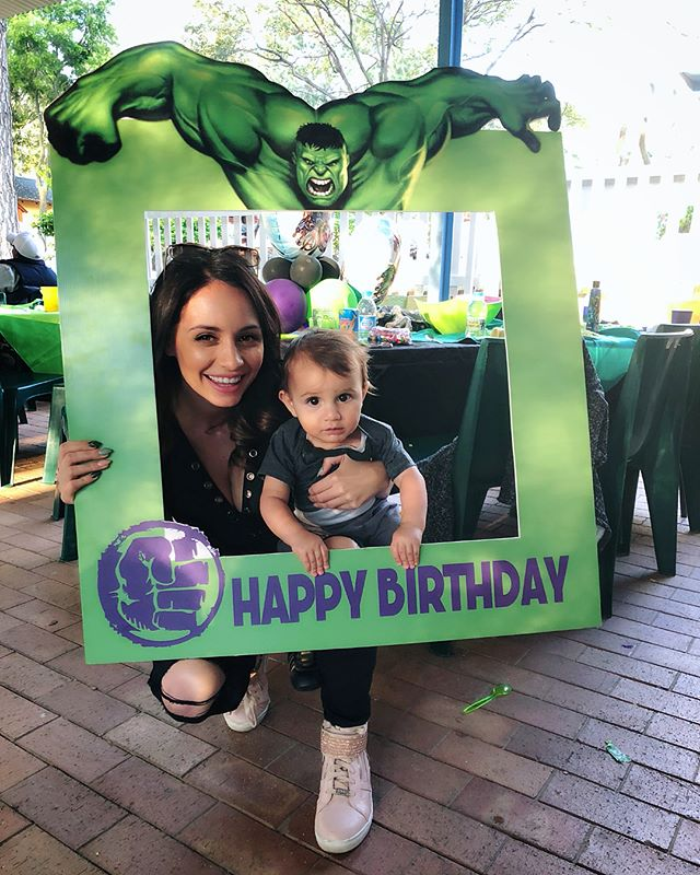 Baby love 👶🏻 and nouna @angiedets 💞#kirins4thbirthday #theincrediblehulk