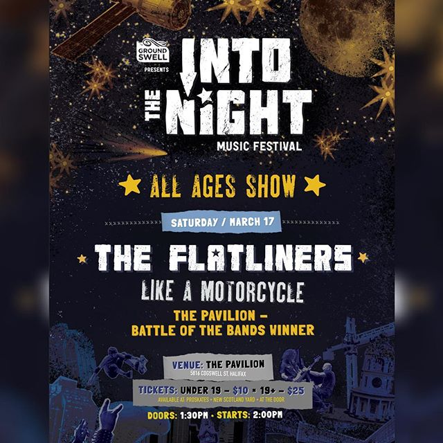 One week from today we'll be rockin' out at @halifaxpavilion with @theflatliners, @likeamotorcycle and @mattsteelethecorvettesunset #allagesshow #halifax #itn2018