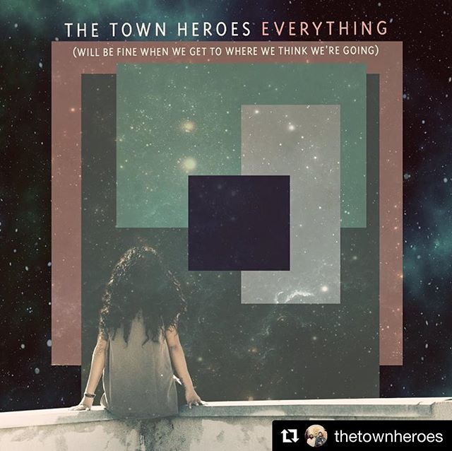 "News from @thetownheroes !!! ・・・ 🎼✨Excited as hell to show you guys the cover art for our new album, ""Everything (will be fine when we get to where we think we're going)"" The album will be out worldwide on August 10th. We're proud of this thing and can't wait for you to hear it. The sweet artwork is by the incomparable @abracazebra.  Thanks for all the ❤️ and support, pals #newmusic #music #newalbum #everything #songs #halifax #halifaxartist #halifaxlocal #halifaxnoise #capebreton #capebretonisland #keepthedreamalive @halifaxnoise #newsongs"