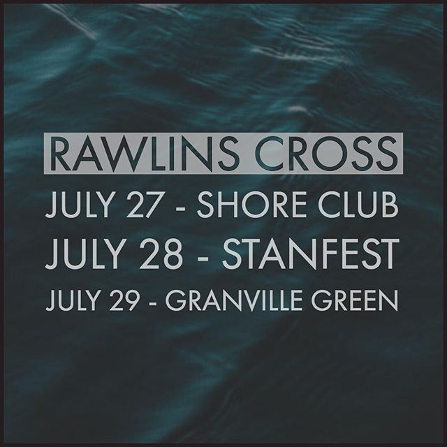 You have three chances to see Rawlins Cross this weekend! Up first- Hubbards NS! 🎉