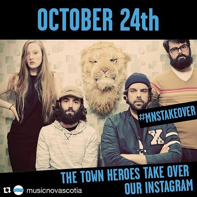 #Repost @musicnovascotia ・・・ TODAY! Follow along as @thetownheroes take over our Instagram!  #MNSTAKEOVER #mnstakeover_thetownheroes