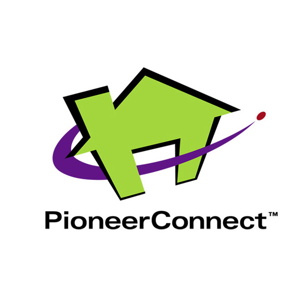 Pioneer Connect   Logo design for Pioneer Electronics' set-top box based home automation system.