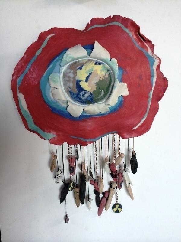 """""""Chaos"""", porcelain sculpture"""