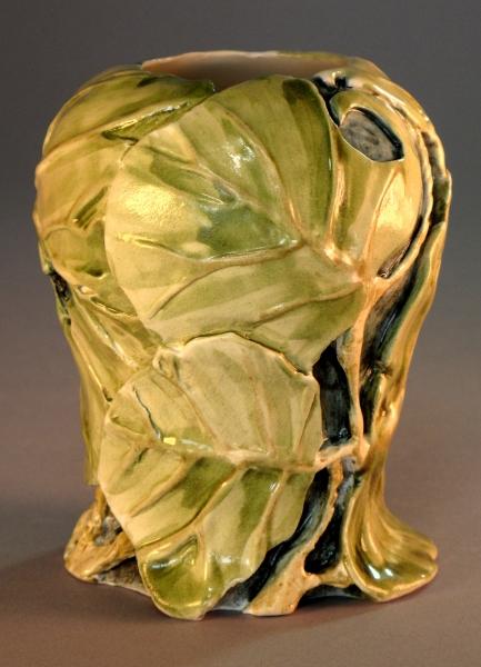 Seagrape Leaves, carved vase