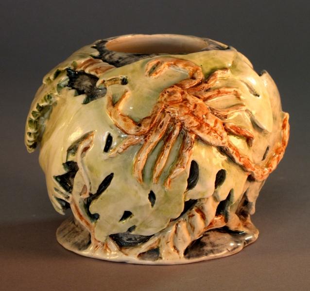 Scorpion, carved vase