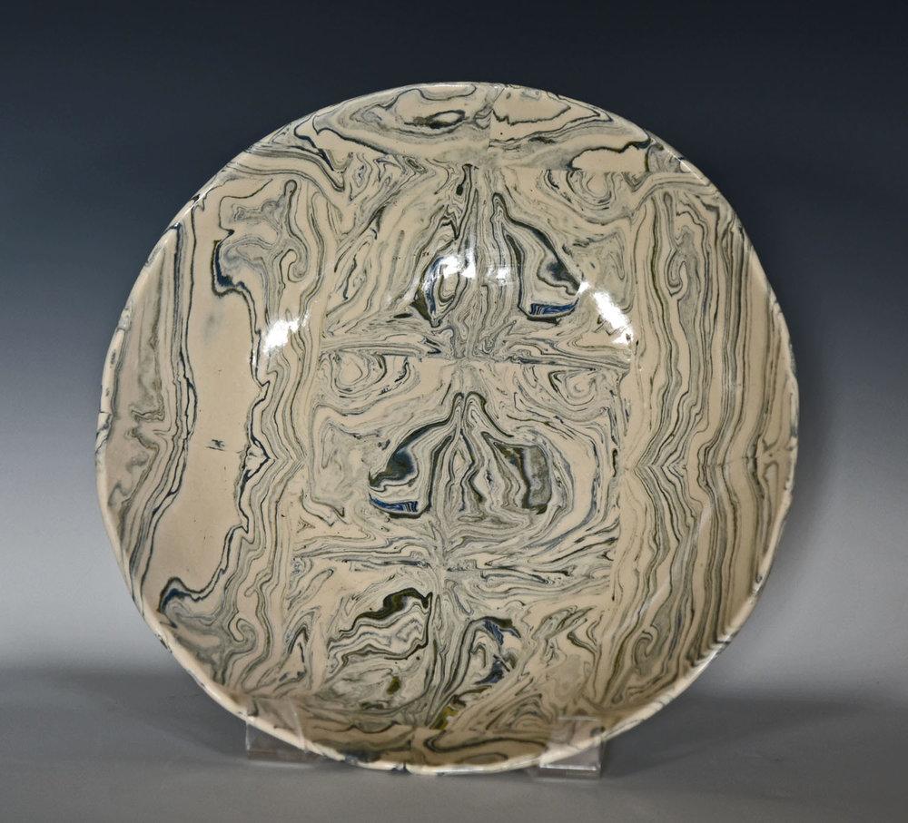 Stoneware, mokume large bowl
