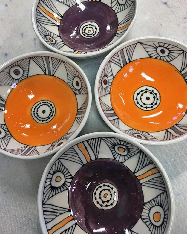 Porcelain bowls purple orange black.jpg