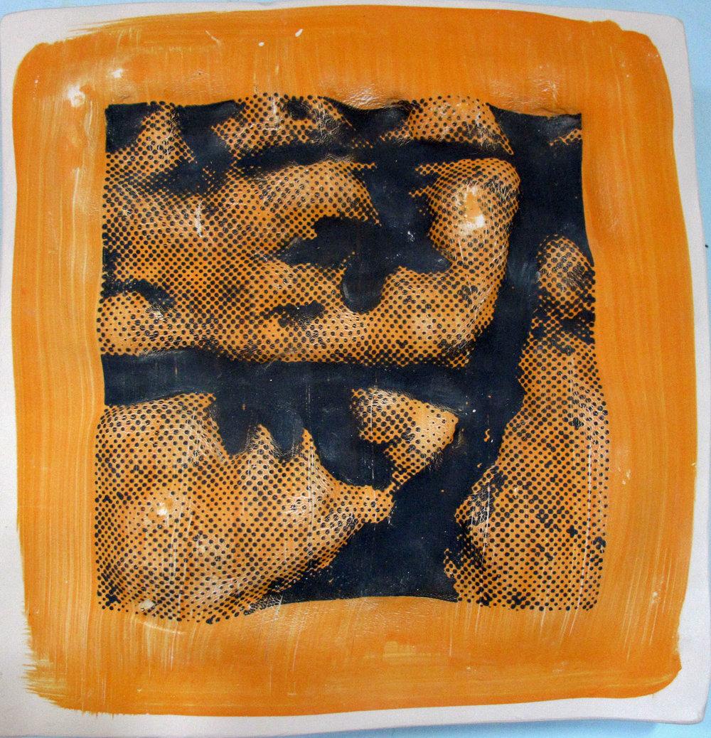 Burren, stoneware panel