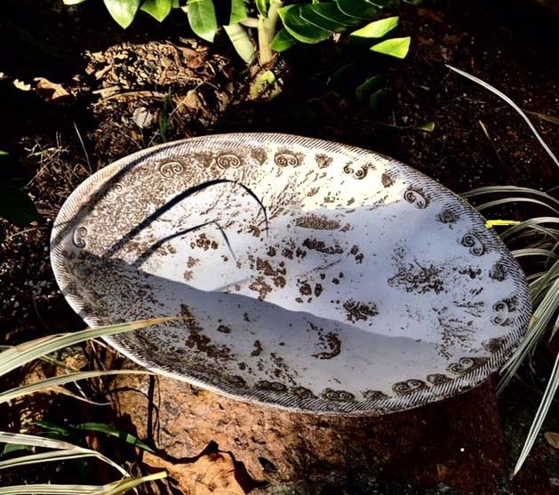 Raku oval bowl, obvara.