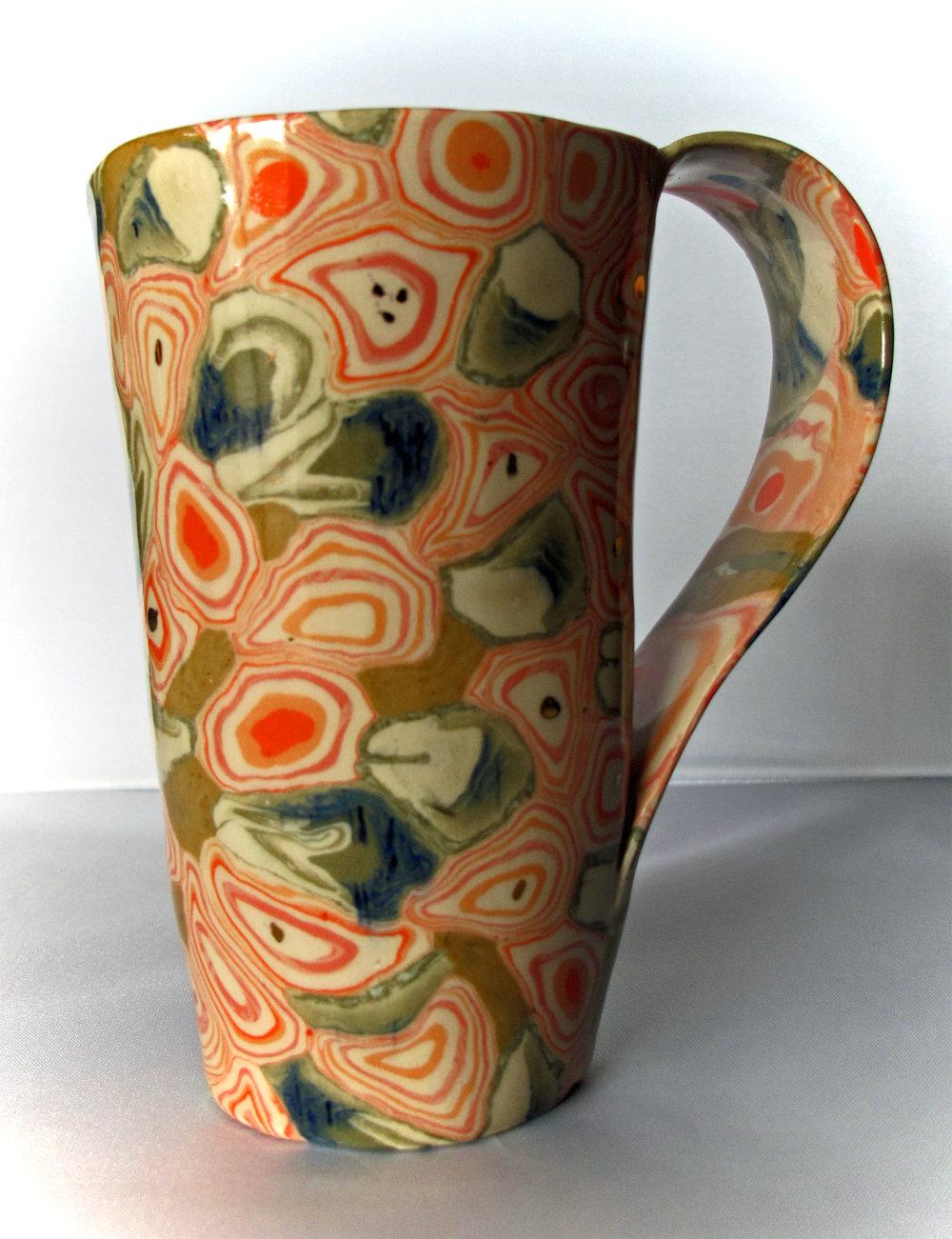 Nerikomi mug, porcelain