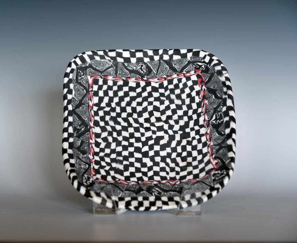 Nerikomi porcelain small plate