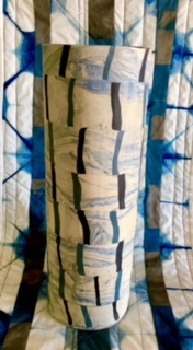Nerikomi vessel with companion quilt