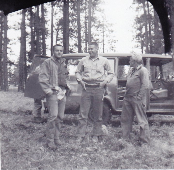 Ken's father Ken Sr. (center) back in his BLM Oregon days, circa early 60s.