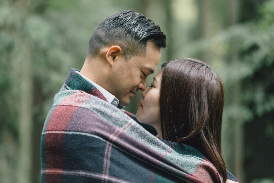 H+E Engagement session at Lynn Canyon Park