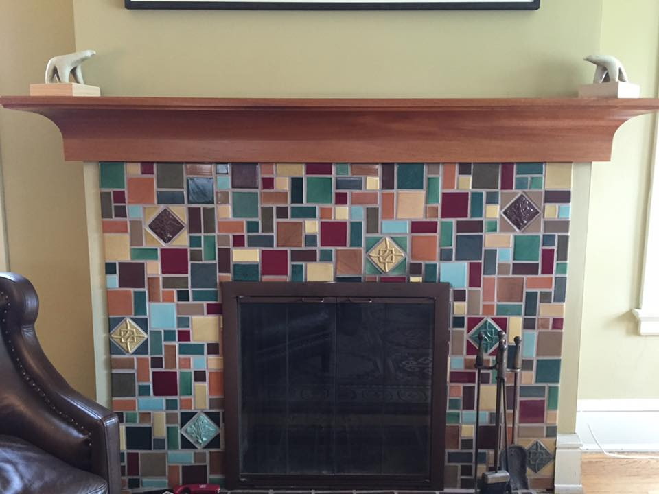 Peterson Home Mahogany Mantel - Milwaukee, WI